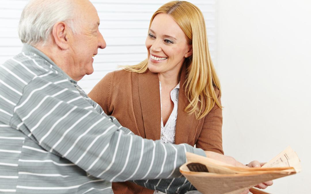 Giving care to senior citizen