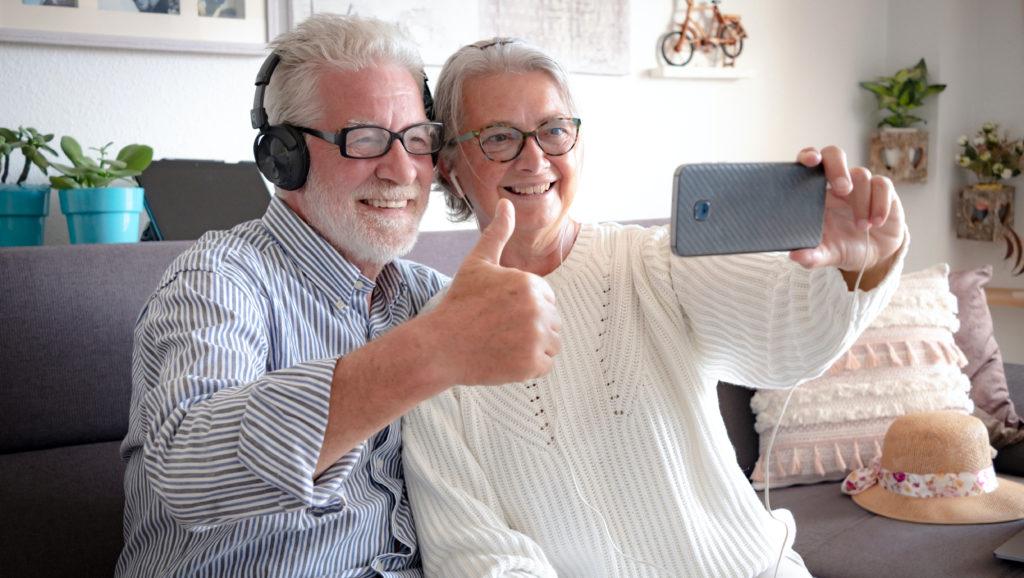 Seniors using technology